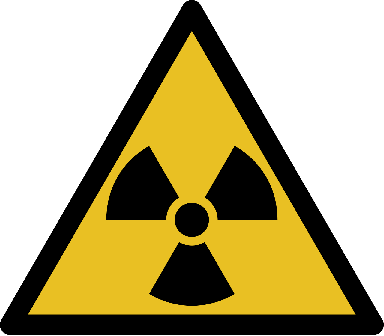 Zeichen radioaktiv
