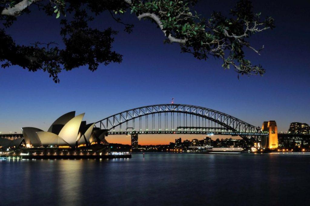 Sidney Australien bei Nacht