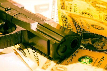 Waffe Dollar Kriminalität