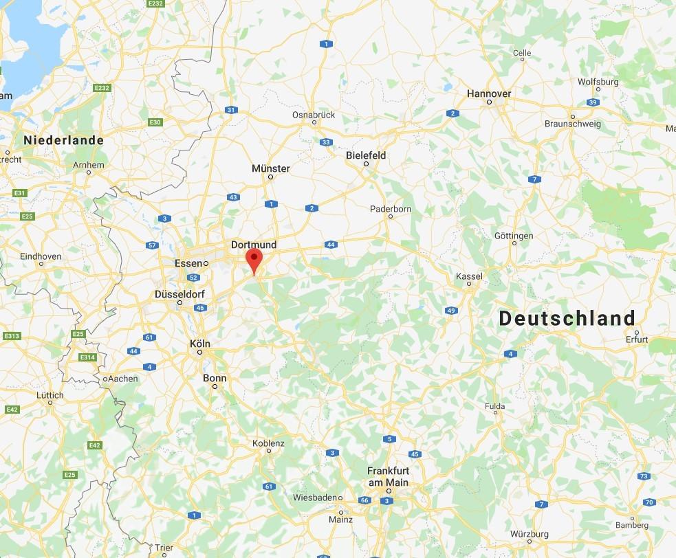 Hagen, Deutschlandkarte
