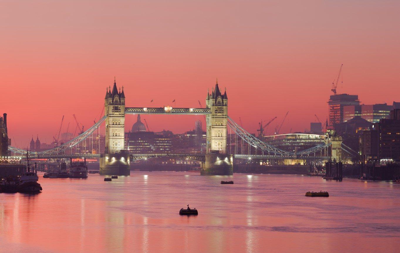 London Themse Sonnenuntergang
