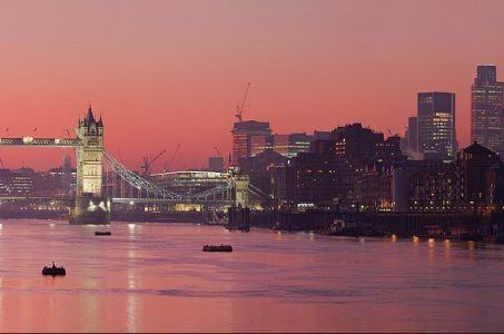 London Themse Sonnenuntergang