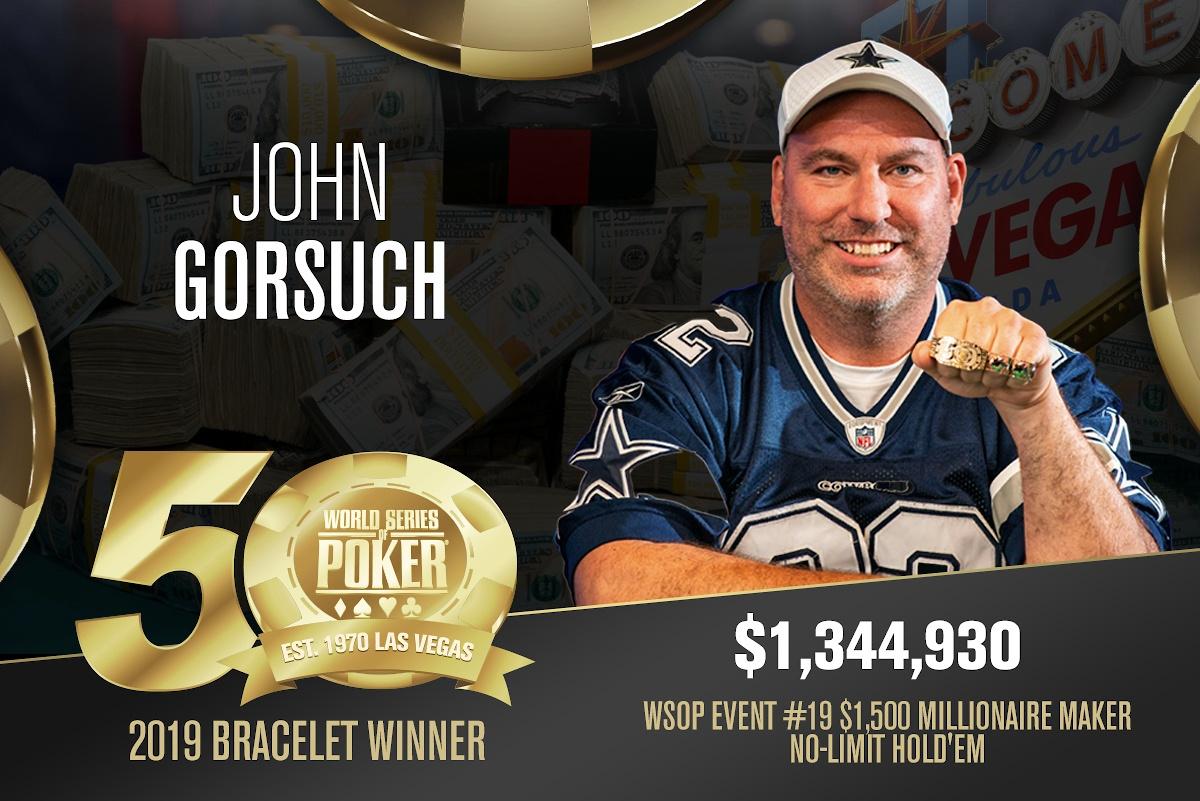 John Gorsuch, Siegerfoto, WSOP 2019