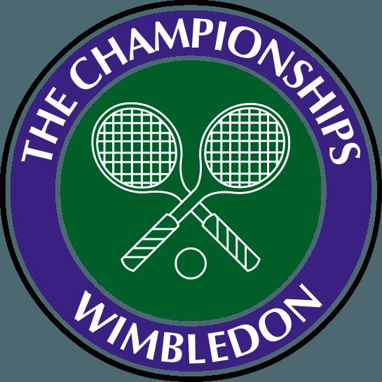 Wimbledon-Logo mit gekreuzten Tennisschlägern