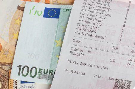 Mit dem Kassenzettel in der Lotterie gewinnen