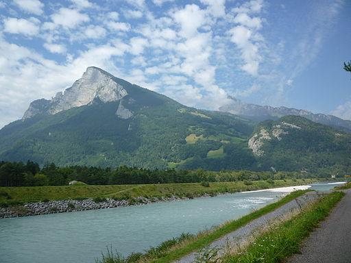 Rhein, Grenze Liechtenstein und Schweiz