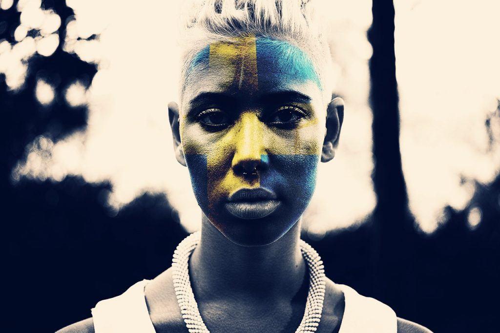 Portrait, Schweden Flagge