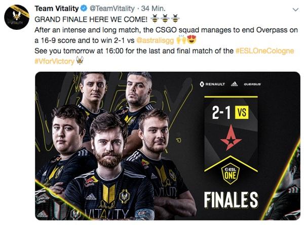 Tweet Team Vitality