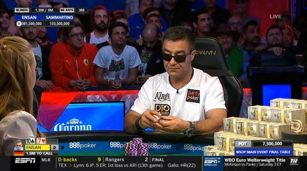 Hossein Ensan, WSOP 2019 Main Event, Final Table, Poker