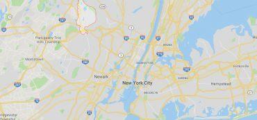 Wayne, New Jersey, USA Karte