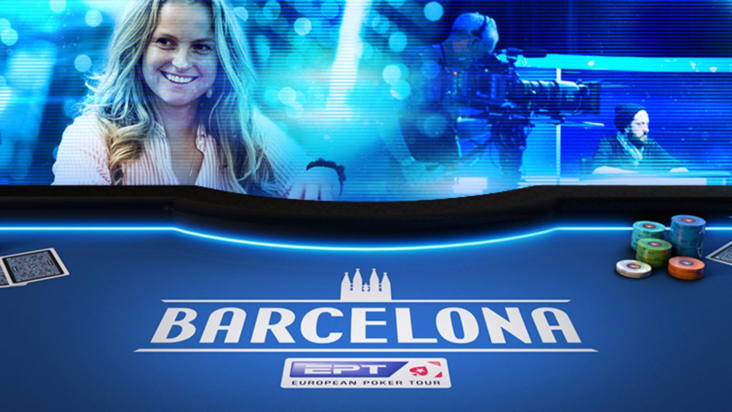 Barcelona, Pokertisch, EPT Logo, Frau