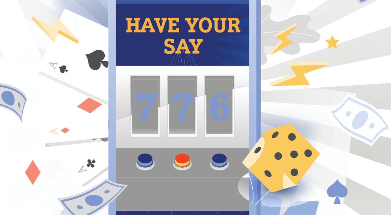 Have your say, Spielautomat, Würfel, Karten