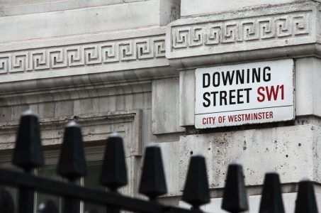 Straßenschild Downing Street London