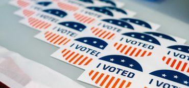 Sticker I voted US-Wahl 2016