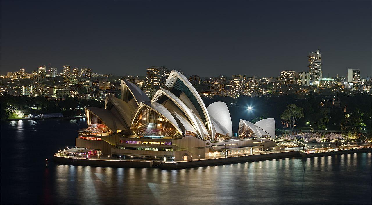 Oper von Sydney bei Nacht