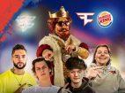 FaZe Clan eSportler, Burger King, Werbung, Logo