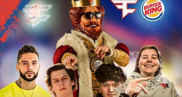 FaZe Clan eSportler, Burger King, Werbung, Logo