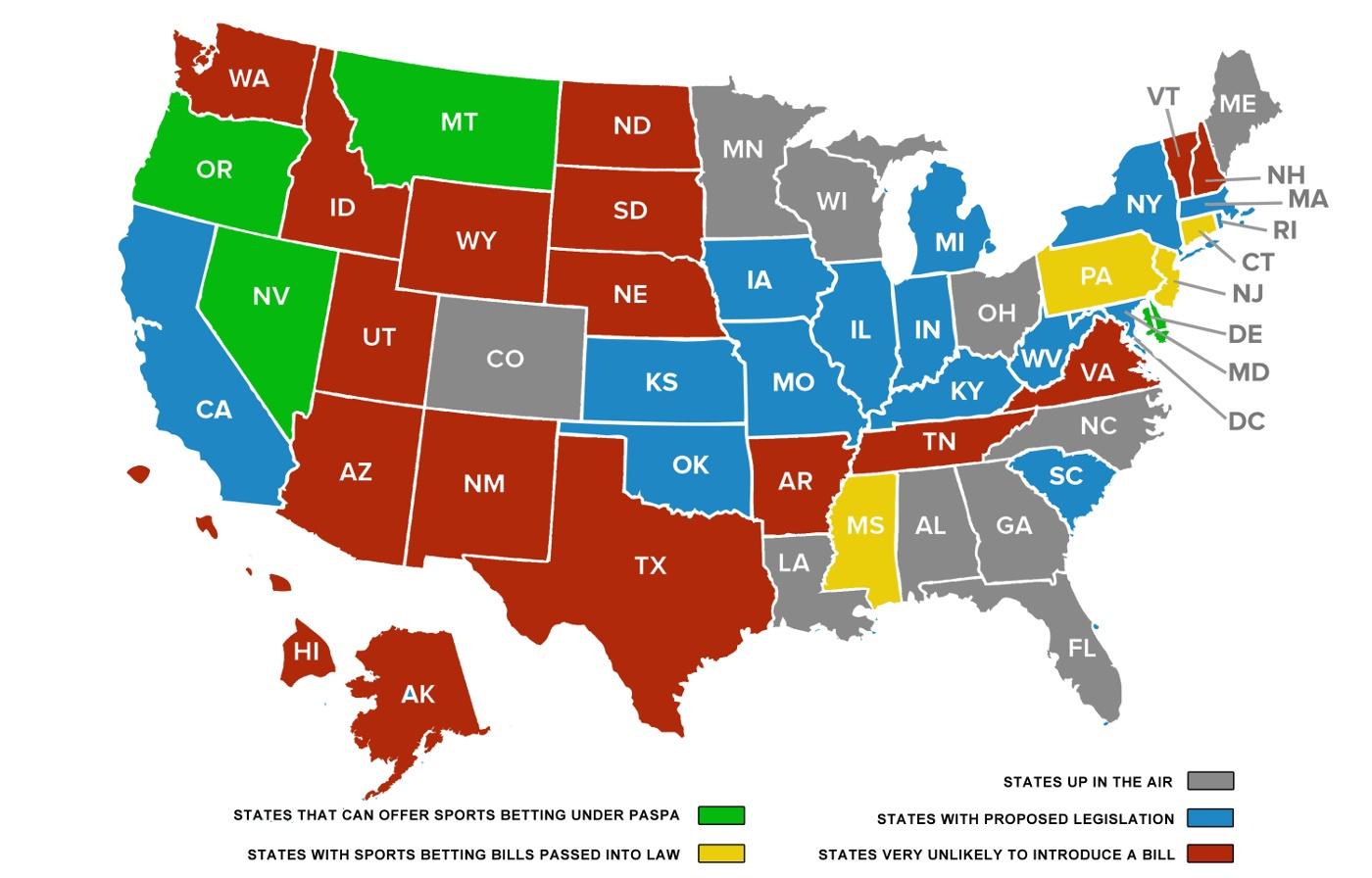 USA Karte Glücksspiel