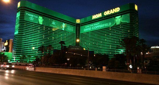 MGM Hotel und Casino, grüne Fassade, Hotel, Las Vegas
