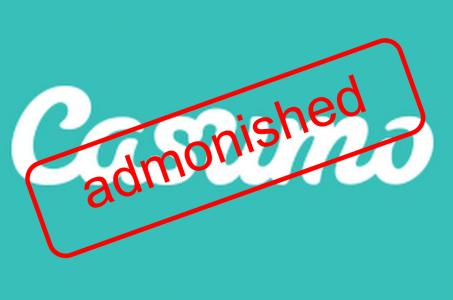 Casumo Logo, admonished Schrift