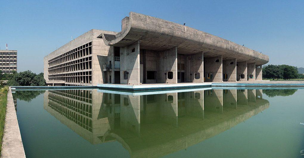 Parlamentsgebäude in Chandigarh, Haryana, Indien