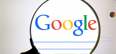Google Logo, Webseite, Lupe