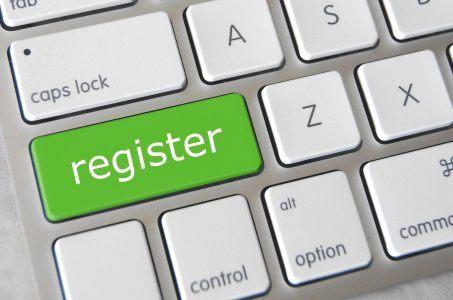 Register, online registrieren