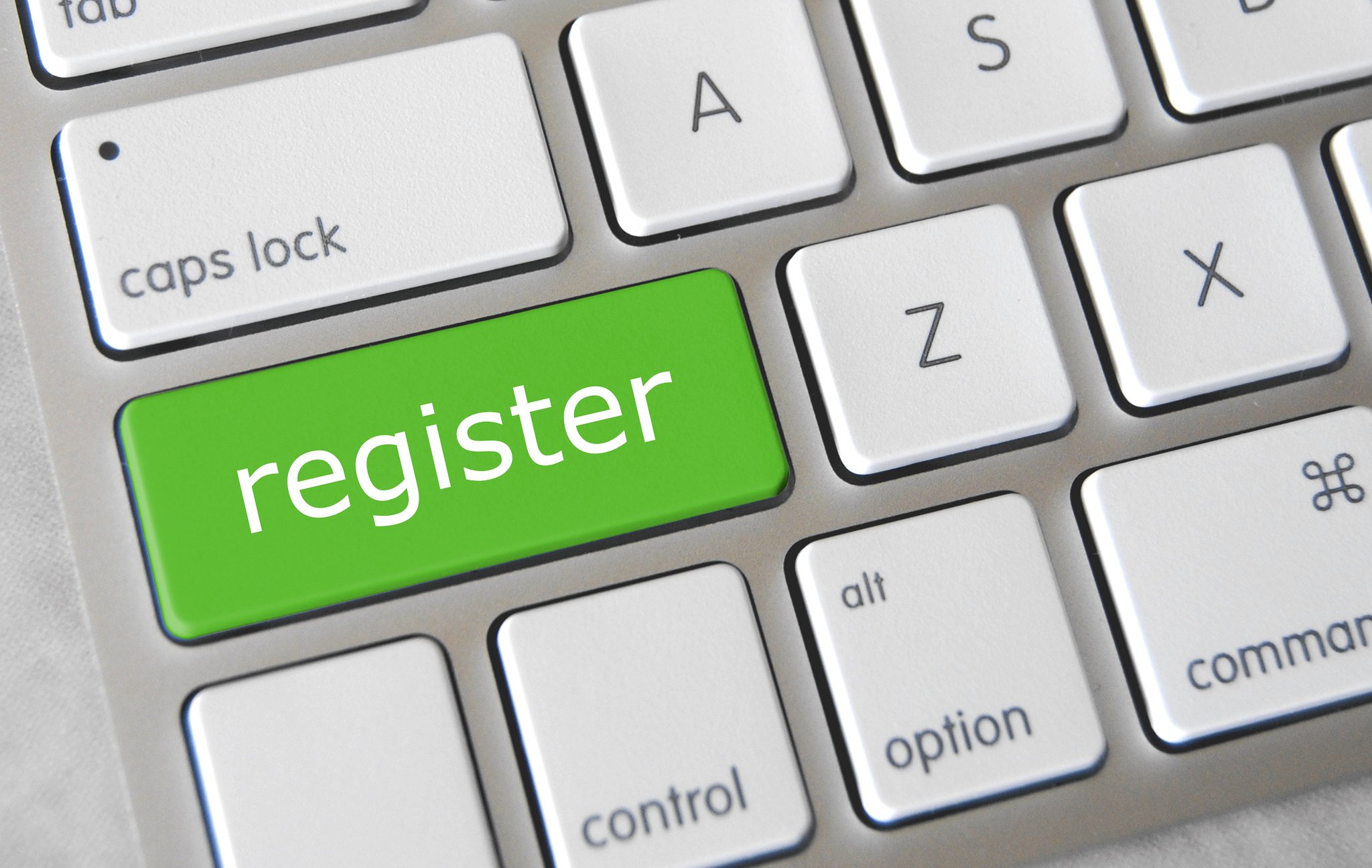 Register, online registrieren