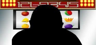 Umriss Mann, Spielautomat