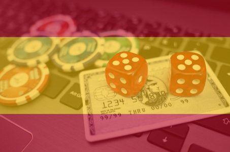 Glücksspielwerbung Spanien, spanische Flagge, Online Glücksspiel