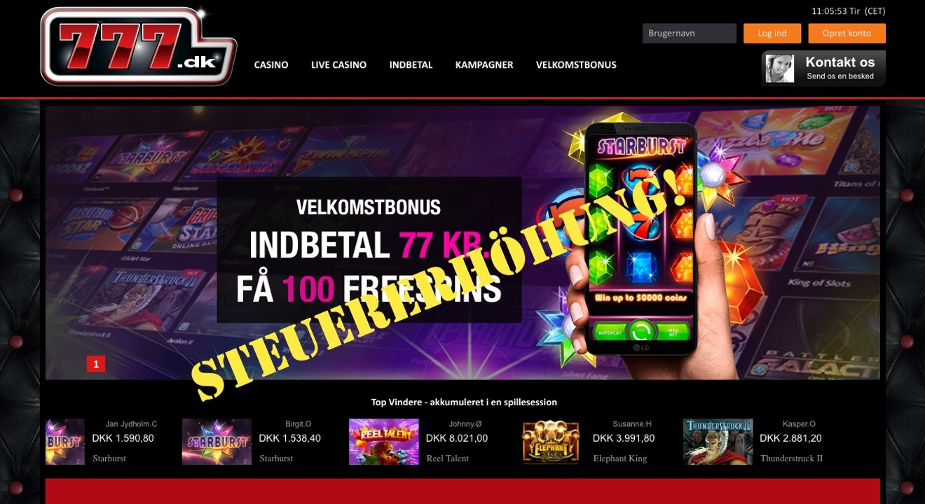 Online Casino Dänemark Steuererhöhung