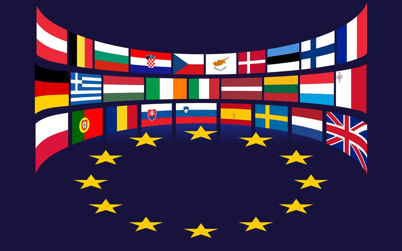 EU, EU Mitgliedsstaaten, EU Länder, EU Fahnen