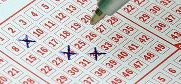 Lottoschein wird ausgefüllt