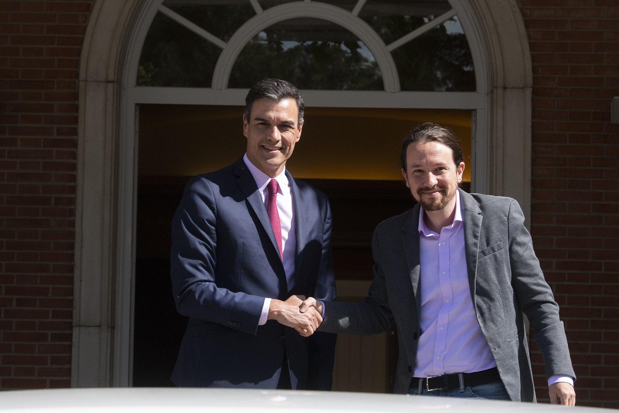 Pedro Sánchez, Pablo Iglesias