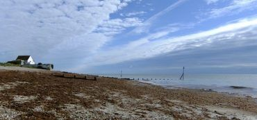 Selsey West Sussex, Haus, Strand, Wolken