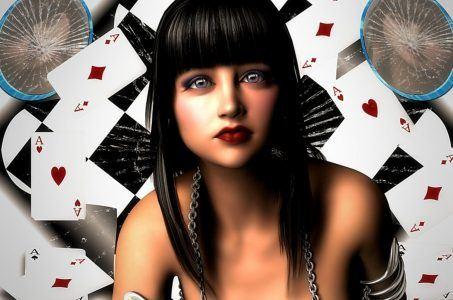 Frau, Spielkarten