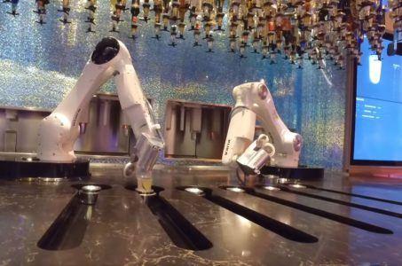 Roboter, Getränke, Flaschen
