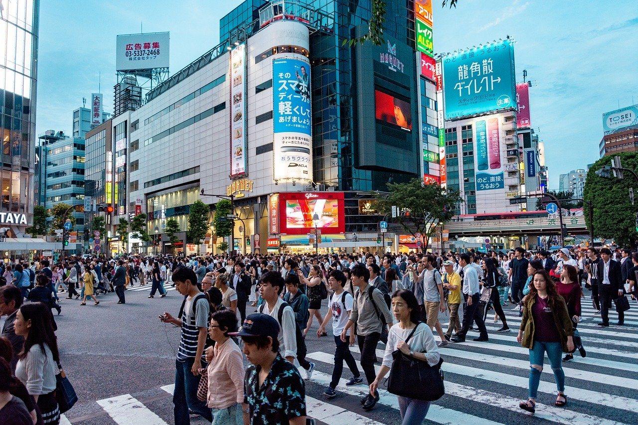 Fußgänger in Japan, Japaner