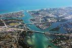 Blick auf Küste von Florida