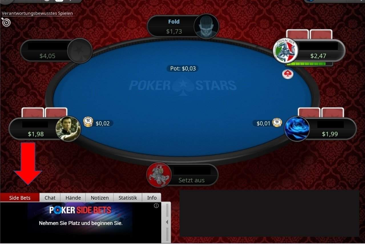 Pokertisch, Online Poker