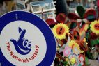 The National Lottery, Schild der National Lottery, britische Lotterie