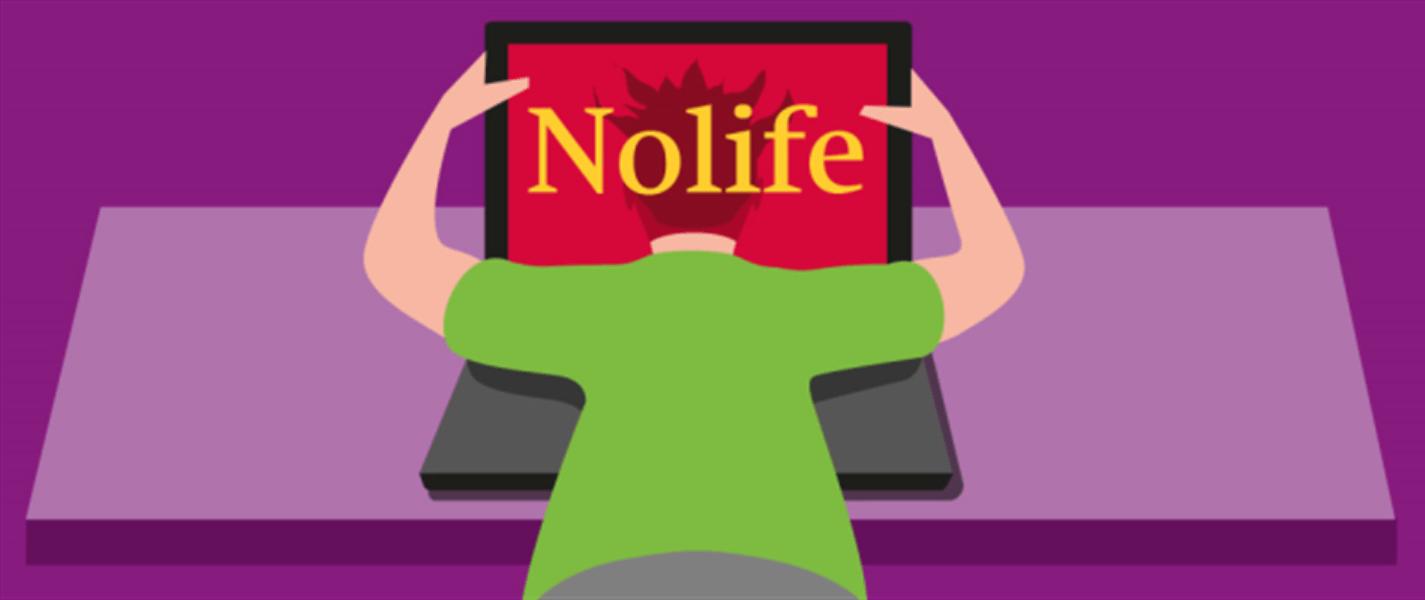 Nolife, Laptop, Figur