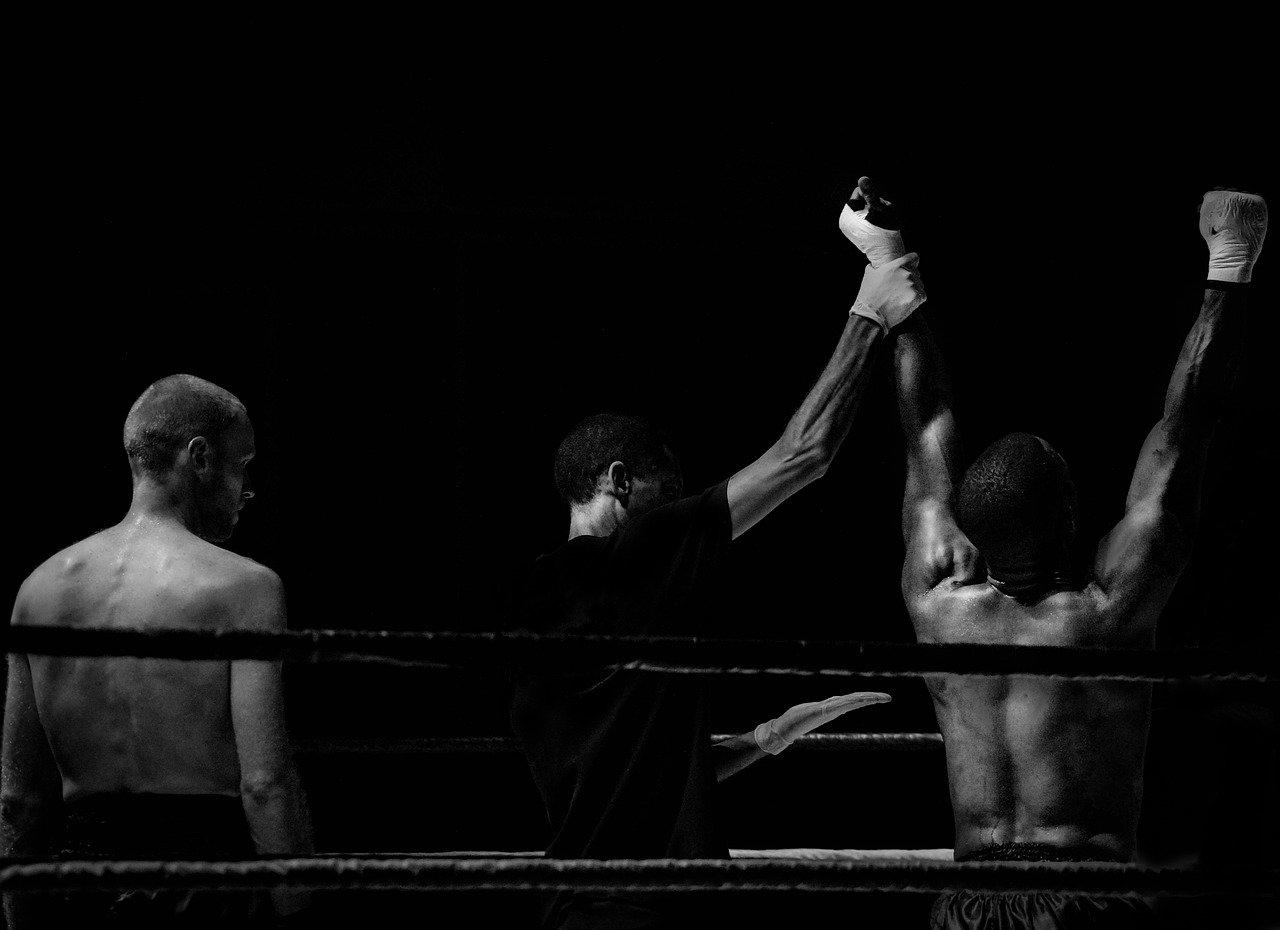 Siegerverkündung Boxkampf