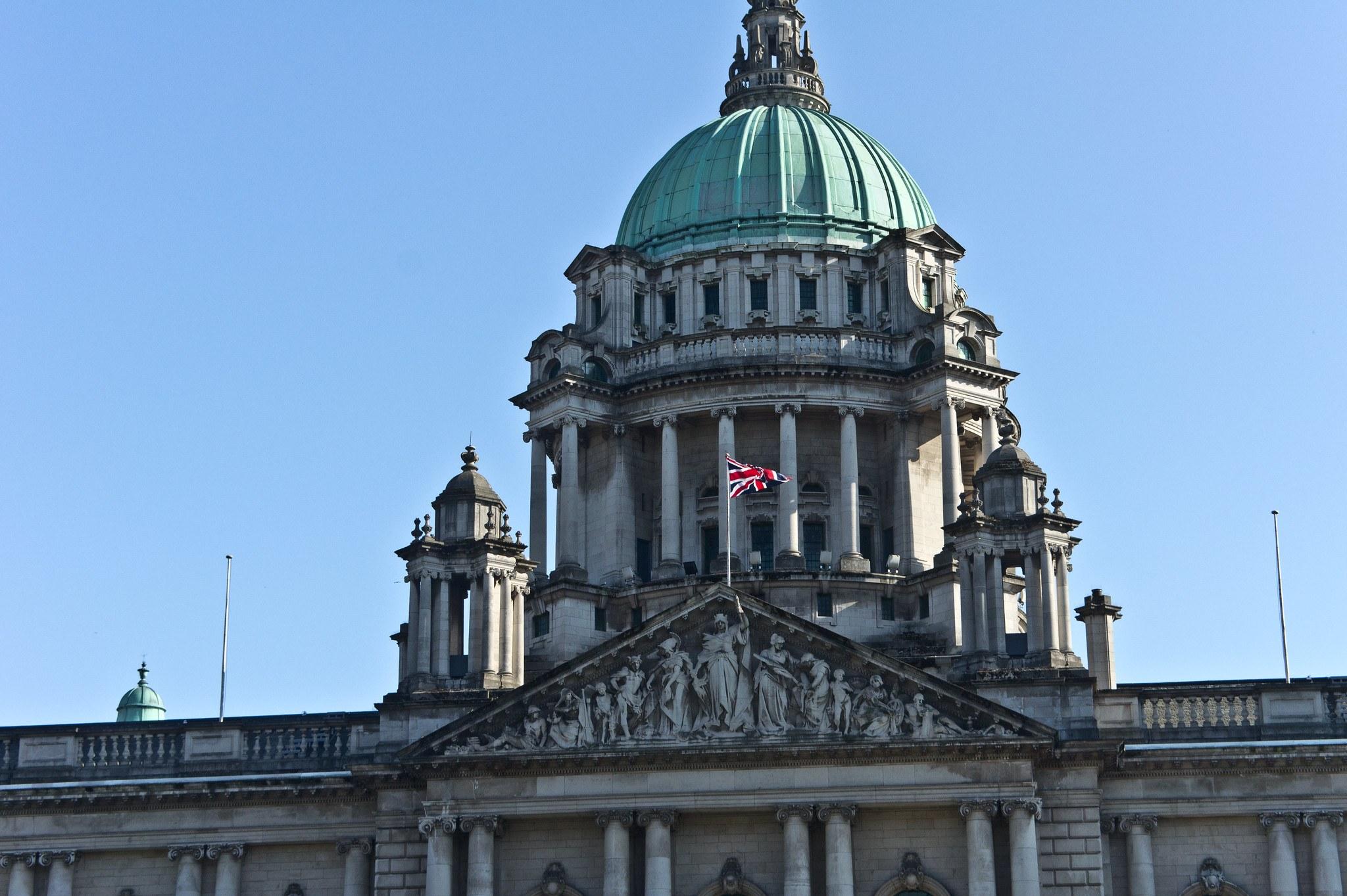 Haus, Gebäude, britische Flagge
