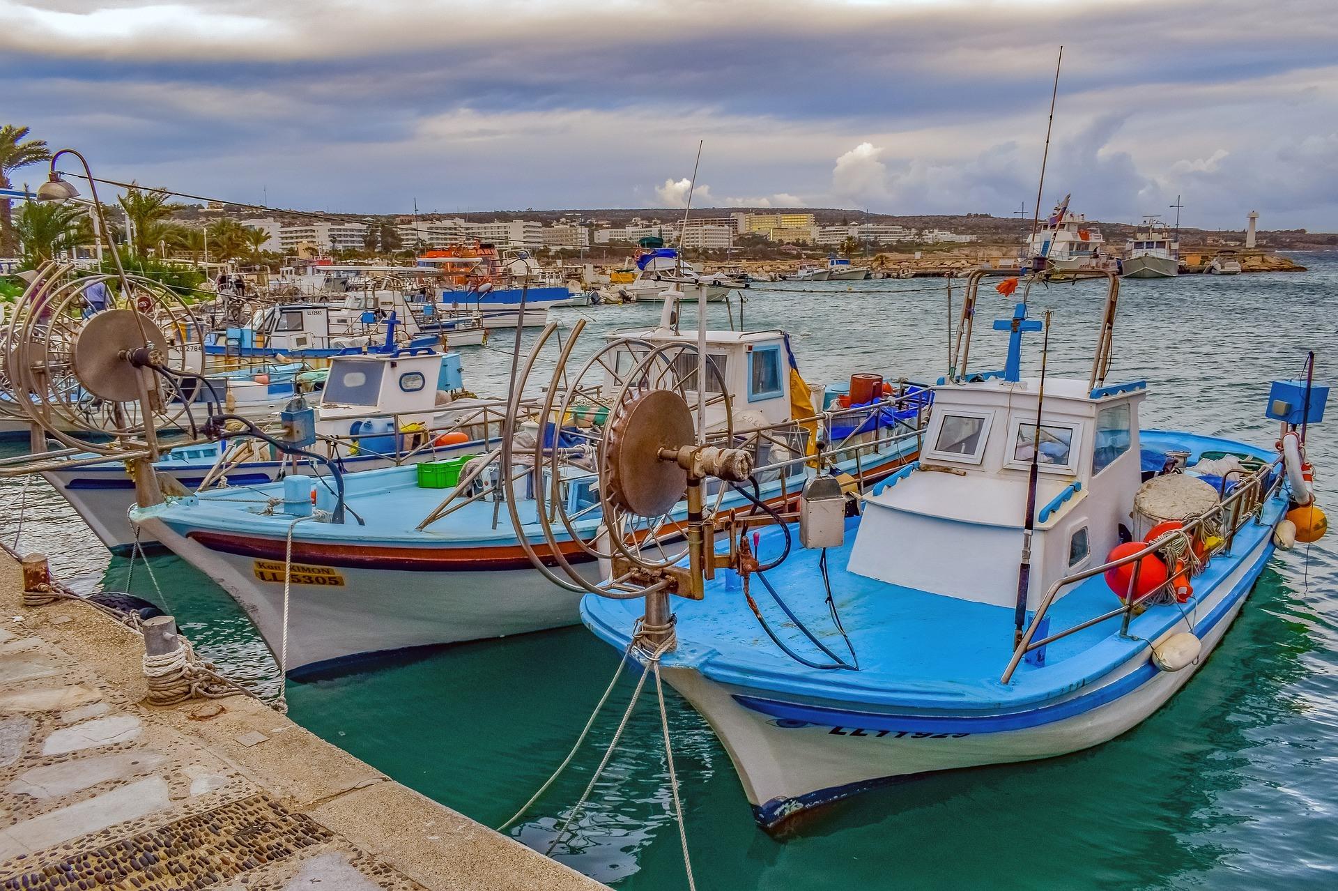 Zypern, Hafen, Boote