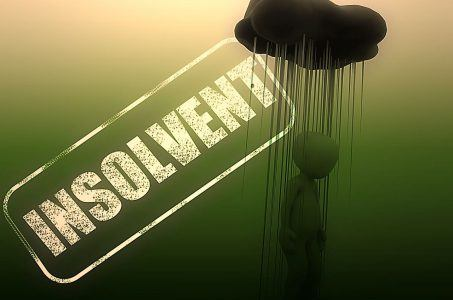 Insolvent, Wolke, regen, Silhouette