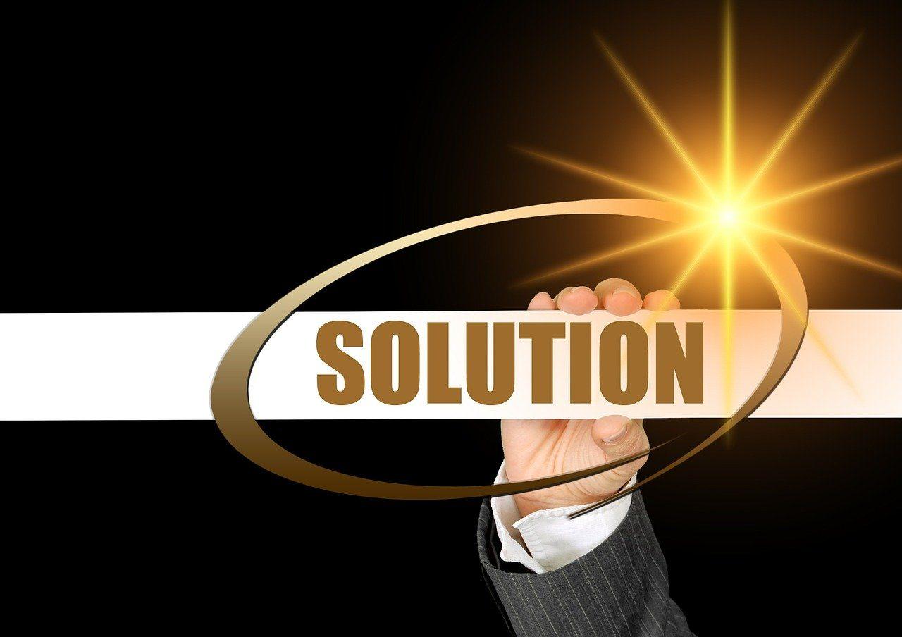 Hand, Lichtschein, Solution