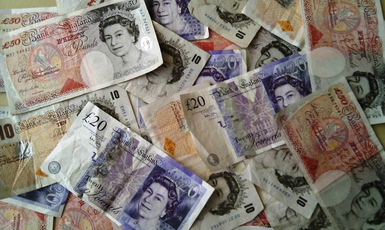 Geldscheine, britische Pfund