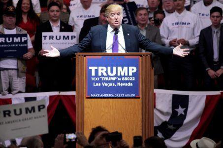 US-Präsident Trump bei einer Rede in Las Vegas