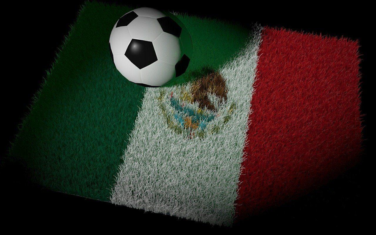 Mexiko, mexikanische Fahne, Fußball